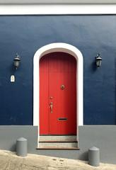 Doors of Old San Juan (ep_jhu) Tags: oldsanjuan viejosanjuan historic entrada puertorico pr fujifilm door x100s tiles steps blue puerta fuji roja red sanjuan entrance osj gray
