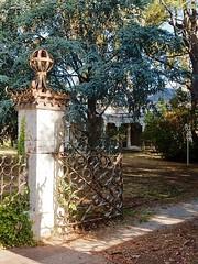 Pillar of Tradition (mikecogh) Tags: highgate pillar garden spacious traditional wroughtironlace lattice veranda metal gate