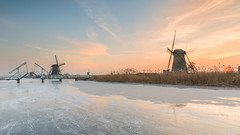 Sunset In Kinderdijk (Wim Boon (wimzilver)) Tags: wimboon kinderdijk nederland holland iceskating canonef1635mmf4lisusm canoneos5dmarkiii leefilter cold winter
