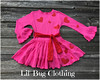 Valantines Day Hot PInk Red Heart Dress (Lil' Bug Clothing) Tags: valentines day hot pink red tiered girl twirl dress