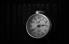 As Time Goes By... (3OPAHA) Tags: bw macromondays time wecker books sony