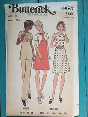 Butterick 6687 (kittee) Tags: kittee vintagesewing vintagepatterns 6687 butterick butterick6687 size14 bust36 toobig wouldsell wouldtrade nodate 1970s dress colorpiecing tunic pants semifitted aline ensemble sewing sewingpattern vintage pattern