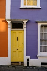 Vibrant (The Green Album) Tags: clifton woods bristol house doors paint purple yellow orange cheerful dwelling urban colour multicoloured