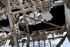 iss050e028892 (NASA Johnson) Tags: peggy whitson spacewalk eva spacesuit emu space