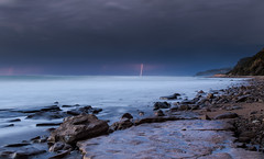 Sorm and lightning approaching. (vlassisd123) Tags: water weather wild wildlife winter waves eλλαδα europe everythingscenery ellada 35mm raw rocks rock travel tripod sky kekyra superb ionian island ocean corfu outside corcyra holidays longexposure ionion outdoor photography projectweather pebbles awesome amazing sea seascape scenery seaview seaside sand storm d3200 dslr dramatic fantastic flickr greece griechenland griekenland grèce grecia geotagged hellas h2o holiday kerkyra landscape lightroom clouds view beach blue nikon nikkor nature night natural mountain lightning