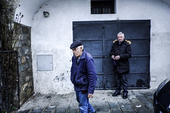 Blue mood (Simone.Marengo) Tags: blue mood street country old cold colours hat people italy