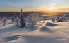 Snow Fell (http://www.richardfoxphotography.com) Tags: akaslompolo finland sunset outdoors snow kuerfell