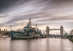 HMS Belfast and Tower Bridge (Martin.Robertson) Tags: longexposure bigstopper thames landscape london leefilters towerbridge cityscape sony dungeons bridge hmsbelfast