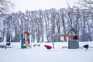 Vinter på Nordre Skøyen Hovegård