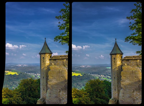Festung Königstein 3-D / Stereoscopy / CrossView / HDR / Raw