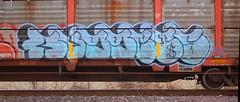 (Chicago City Limits) Tags: freight train graffiti benching graff freights railroad rail rails road tracks fr8 art artwork throwies throw up throwup throwups auto rack racks autoracks holy roller rollers holyrollers holyroller locomotive spray paint nikon d50