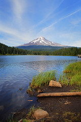 Trillium Lake 2 (brockdestiny1) Tags: trilliumlake trillium mthood mountain lake landscape trees sky edited nikond3200 nikon nikonphotography blue shore oregon naturaloregon