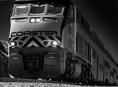 Coaster (TDSPhotography) Tags: travel motion beach train lights movement rocks track surfliner