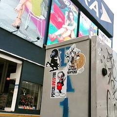 Mexico City (PSYCO ZRCS 10/12) Tags: street art mexico graffiti sticker stickerart stickers vinyl worldwide slap tagging psyco vinyls bombing slaps hkr stickerporn stickerlife psycolovesyou