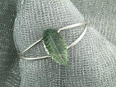Green qtz SS bracelet