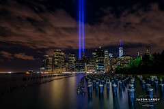 Tribute in Lights (Jason Laboy Photography) Tags: nyc blue freedomtower tributeinlights
