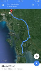Transfer service from Pimarai Resort Spa to Krabi Airport by boat & car (waoxwao) Tags: thailand map lanta krabi     transferservice  mapoftransfer