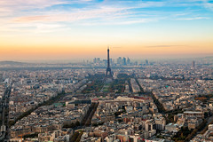 Paris Light - France, Paris (Nomadic Vision Photography) Tags: sunset paris france smog view eiffeltower tourmontparnasse capitalcity jonreid amospheric tinareid nomadicvisioncom