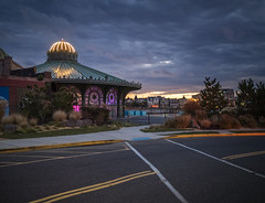Night Carousel (jeff.browne) Tags: ocean fall abandoned ruins ominous asburypark nj olympus bluehour jerseyshore omd em1 darkskies 17mm beachtown asburyparkcasino