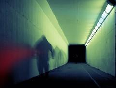 GUISERS (kenny barker) Tags: light art night dark lumix scotland tunnel motionblur grangemouth falkirk multiexposure panasonicgf1 kennybarker