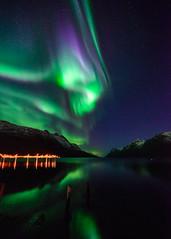 2.5 sec frozen (John A.Hemmingsen) Tags: night zeiss landscape aurora fjord nordnorge northernlights auroraborealis arcticlight nikond600 ersfjordbotn zeissdistagon15mm
