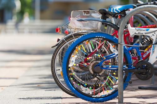 Ein buntes Fahrrad Foto: Ole Bader