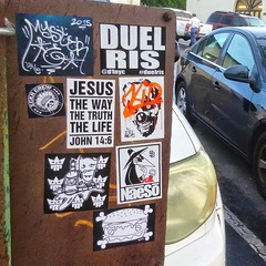 San Diego (PSYCO ZRCS 10/12) Tags: california street art graffiti sticker stickerart san box stickers diego worldwide collab slap grilled tagging psyco bombing kidult slaps naeso stickerporn stickerlife