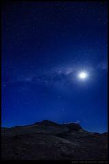 Volcán Macoyó Vía Láctea y Luna