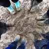 circle of muddy friends (soBeit creations - Photography) Tags: camping circle friendship mud together wellies musicfestival havingfun muddyboots somersaultfestival