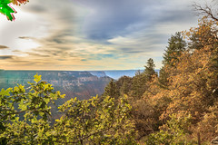 Fall At The North Rim (http://fineartamerica.com/profiles/robert-bales.ht) Tags: park wood travel autumn red arizona sky orange cliff usa mountain southwest west tree fall tourism nature beautiful leaves sunshine yellow rock stone america forest sunrise landscape golden photo leaf october scenery colorado colorful desert natural hiking grandcanyon north scenic rocky grand places canyon erosion foliage formation exotic backpacking mystical gorge states geology inspirational rim northrim haybales rockformation geological