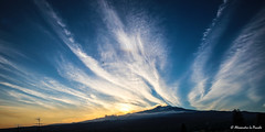 Skies of Mt. ETNA before sunset... (Alessandro Lo Piccolo Hollweger) Tags: sunset landscape volcano craters sicily colourful