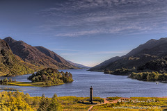 Glenfinnan Monument (1) (Shuggie!!) Tags: trees summer mountains water landscape scotland highlands williams hills karl monuments hdr lochshiel glenfinnan eveninglight zenfolio karlwilliams