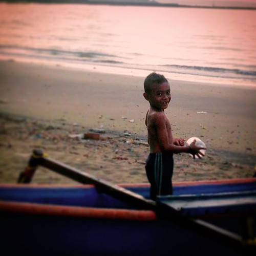 A Sincere Smile of a Boy from Lasiana Beach