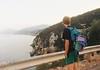 (Arianna Rubini) Tags: summer travel holiday wanderlust sea seaside canon ftb kodak color plus 400 boy landscape island sunset simple beauty cliffs analog analogue road nature trees youth young