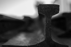 Iron (enrique.torrens) Tags: railway train station beira portugal december 2016 bokeh f18 nikon d3200 black white