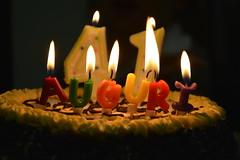 Compleanni felici / Happy birthdays (Loredana Consoli) Tags: 1975 compleanno birthday november party colours auguri candles candele fiamma