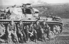 German tank PzKpfw III and his crew