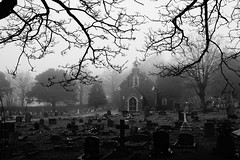 The Old Church (JamieHaugh) Tags: clevedon northsomerset england sony a6000 outdoor outdoors church graveyard cemetery trees silhouette blackandwhite blackwhite monochrome building architecture bw black uk