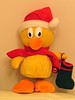 6494 Donny Duck Waiting for Xmas with his stocking at the reaady (Andy - Busyyyyyyyyy) Tags: 20161214 ddd donnyduck hhh mmm musicalduck redhat rrr xmas2016 yellow yyy