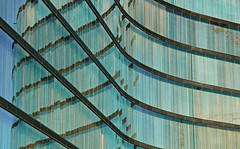 curves & lines (christikren) Tags: curveslines architecture blinds jalousien campus wien vienna green reflexion reflections windows photo christikren geometry europe linien graphical panasonic line city glass window foto