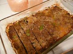 03 - Meatloaf cooked and sliced (Terre's Photos) Tags: meatloaf pankobreadcrumbs groundturkey groundbeef terrepruitt niateacher niabluebelt cpt sanjoseniaclasses sanjoseexerciseclasses wwwhelpyouwellcom wwwterrepruittcom sanjoseniateacher yoga cardiodance ymca niatechnique sjcityfit sanjosecommunitycenters worcestershiresauce