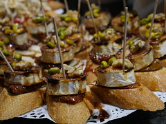 Pintxos is (tapas) like dishes, and while in Basque country this will be on the meny every day.