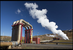 Steam Rises (Nrbelex) Tags: flickr canon dslr 5dmkiii nrbelex ef2470mm 2470mmf28 2470mm 2470mml 5diii widegamut adobergb argb widecolorspace iceland blue geothermalfield bw polarizer bwcircularpolarizer circularpolarizer sky thediamondcircle diamondcircle steam geothermalenergy pipe mountain kraflapowerstation krafla power powerplant cleanenergy renewableenergy