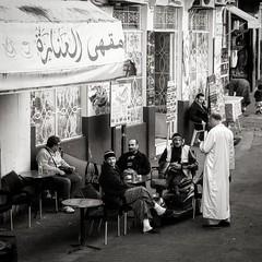 """""""Todo sucede solo un número determinsdo de veces, y no demasiadas"""" Paul Bowles (Herminio.) Tags: ragamuffin tanger zoco morocco zocochico cafe people"""