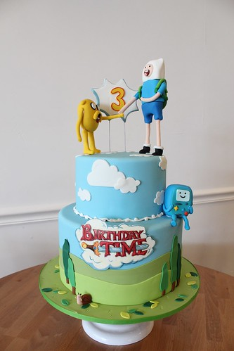 Adventure Time Birthday Time Cake