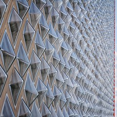 Crystal Clarity (Paul Brouns) Tags: icy crystals crystal glass windows repetition rhythm lookingup italy milan architecture