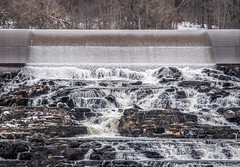 Backside of Lake Nockamixon Dam (T.M.Peto) Tags: lakenockamixon pennsylvania buckscounty dam cascade rocks water watercourse waterfall rapids snow lake flow waterflow rock outdoor outside trees winter nikond3300 nikon nikonphotography adobelightroom lightroom outdoors outdoorphotography scenicsnotjustlandscapes creek tohickoncreek