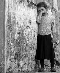 """Evening Song"" by Natan Zach (ybiberman) Tags: israel jerusalem meahshearim girl portrait bw candid streetphotography earring"
