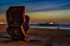 Palace Pier- Brighton (johnlawson367) Tags: brighton britain england funfair landscape palacepier pier sunset sussex uk beach coast sea