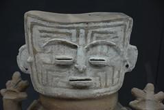 top of funerary jar (cam17) Tags: colombia gold cartagena goldmuseum funeraryjar jartop jarhead funeraryjarfigure stylizedhead
